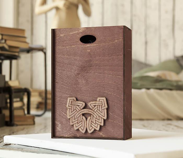 BOX230-3 Большая фиолетовая коробка для упаковки подарков (18*26*7,5 см) фото 04