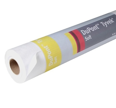 Диффузионная мембрана Tyvek Soft 1500x50000 мм 60 г/м2