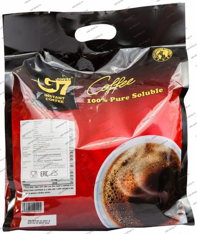 Вьетнамский растворимый кофе G7 Pure Black, 200 пак.