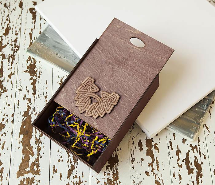 BOX230-3 Большая фиолетовая коробка для упаковки подарков (18*26*7,5 см) фото 05