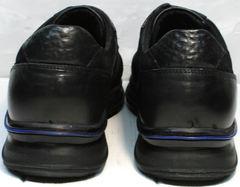 Кроссовки мужские без шнурков Luciano Bellini 1087 All Black