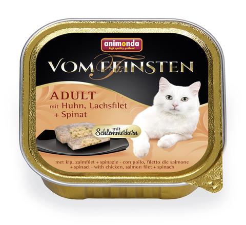 Консервы Animonda Vom Feinsten Adult Меню для гурманов с курицей, филе лосося и шпинатом для взрослых привередливых кошек