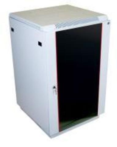 Шкаф телекоммуникационный напольный ЦМО 18U (600 x 600) дверь стекло