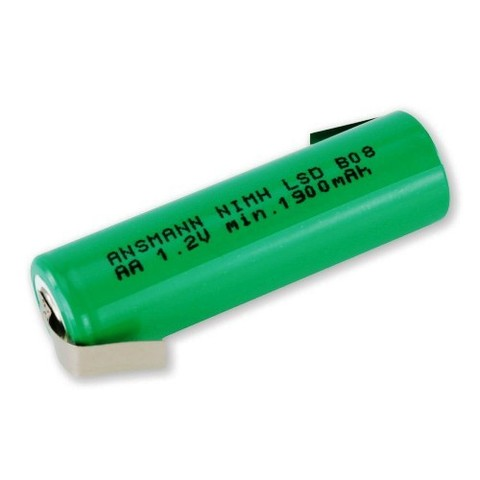 Аккумулятор AA  NiMH ANSMANN 1.2V 2100mAh с контактами