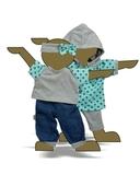 Большой  комплект (с платьем-туникой) - Демонстрационный образец. Одежда для кукол, пупсов и мягких игрушек.