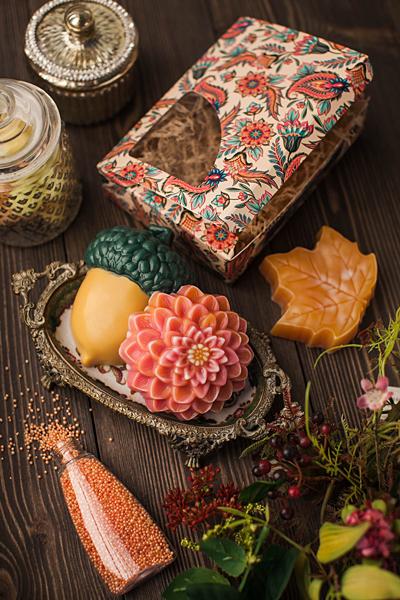Мыло цветок Георгин. Пластиковая форма