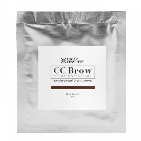 Хна для бровей CC Brows в саше, 5 гр. Цвет Темно- коричневый