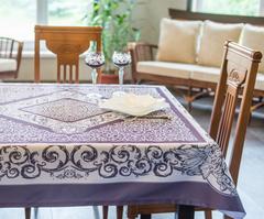 Скатерть 140x140 Blonder Home Chronos фиолетовая