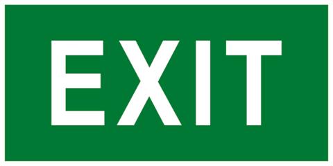 Эвакуационный знак EXIT