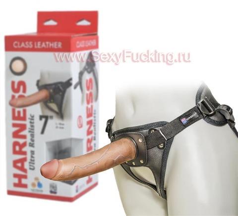 Унисекс трусики со страпоном Harness Ultra Realistic 7 (4 х 18 см)