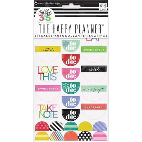 Блокнот со стикерами для ежедневника Create 365 Planner Stickers- Good Day Brights
