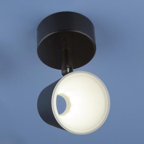 Настенно-потолочный светодиодный светильник DLR025 5W 4200K черный матовый