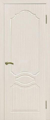 Дверь Сибирь Профиль Венеция, цвет беленый дуб, глухая