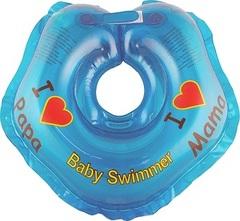 Baby-Krug. Детский круг для купания на шею, 0-24 мес голубой