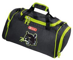 Сумка спортивная Step By Step Wild Cat полиэстер черный/зеленый