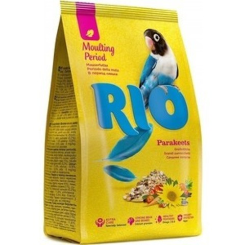 RIO корм для средних попугаев в период линьки 500г