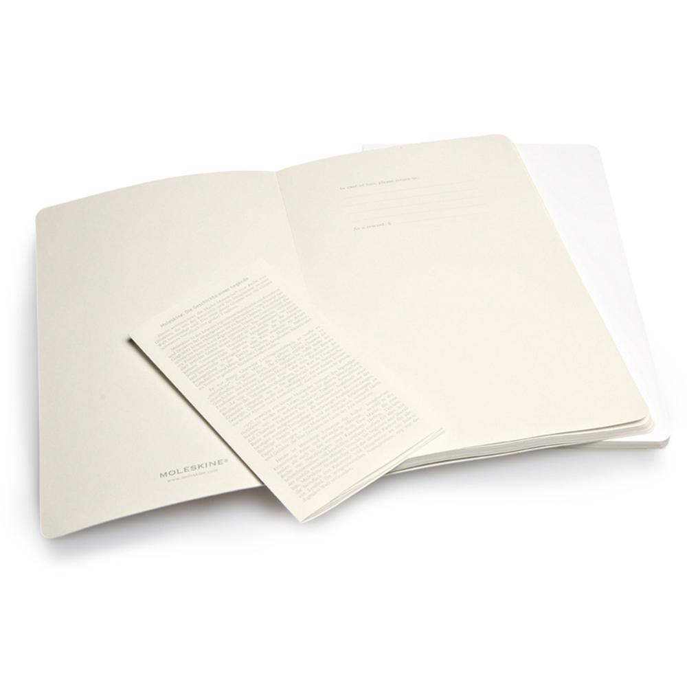 Набор 2 блокнота Moleskine Volant Large, цвет белый, в линейку