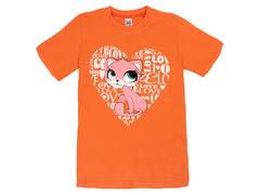 18059-14 футболка для девочек, оранжевая