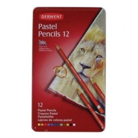 Набор карандашей пастельных Derwent Pastel 12шт мет короб 32991