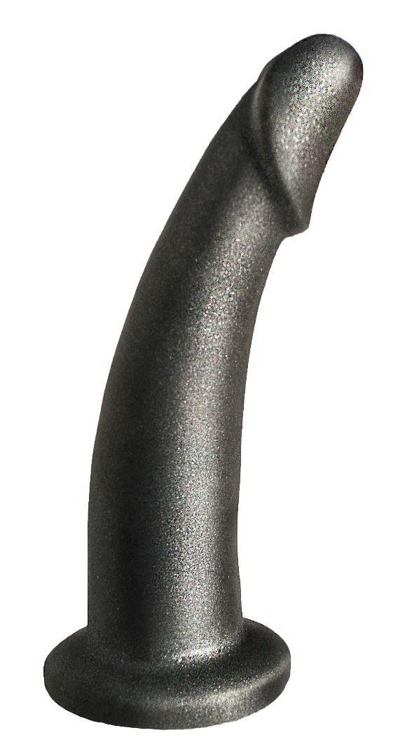 Трусики и насадки: Чёрная насадка на пояс харнесс PLATINUM BENT 2