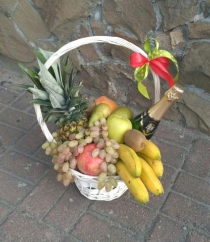 Корзина Яркий фрукт#1407