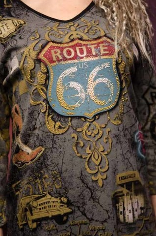 Женский пуловер Historic Route 66 Cactus Bay. Made in USA