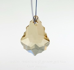 6090 Подвеска Сваровски Baroque Crystal Golden Shadow (22х15 мм)