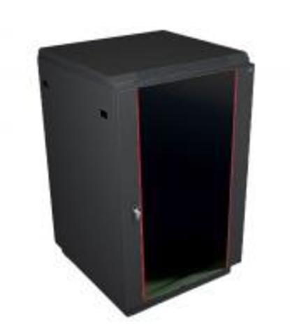Шкаф телекоммуникационный напольный ЦМО 18U (600 x 600) дверь стекло, цвет чёрный