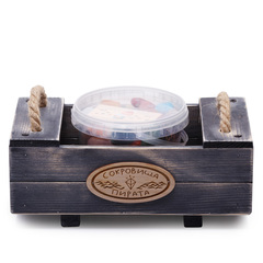 Ящик-песочница Сокровища Пирата с самоцветами, 27х15х11 см, 1200 г