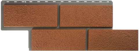 Фасадная панель Альта Профиль Камень неаполитанский Терракотовый 1250х450 мм