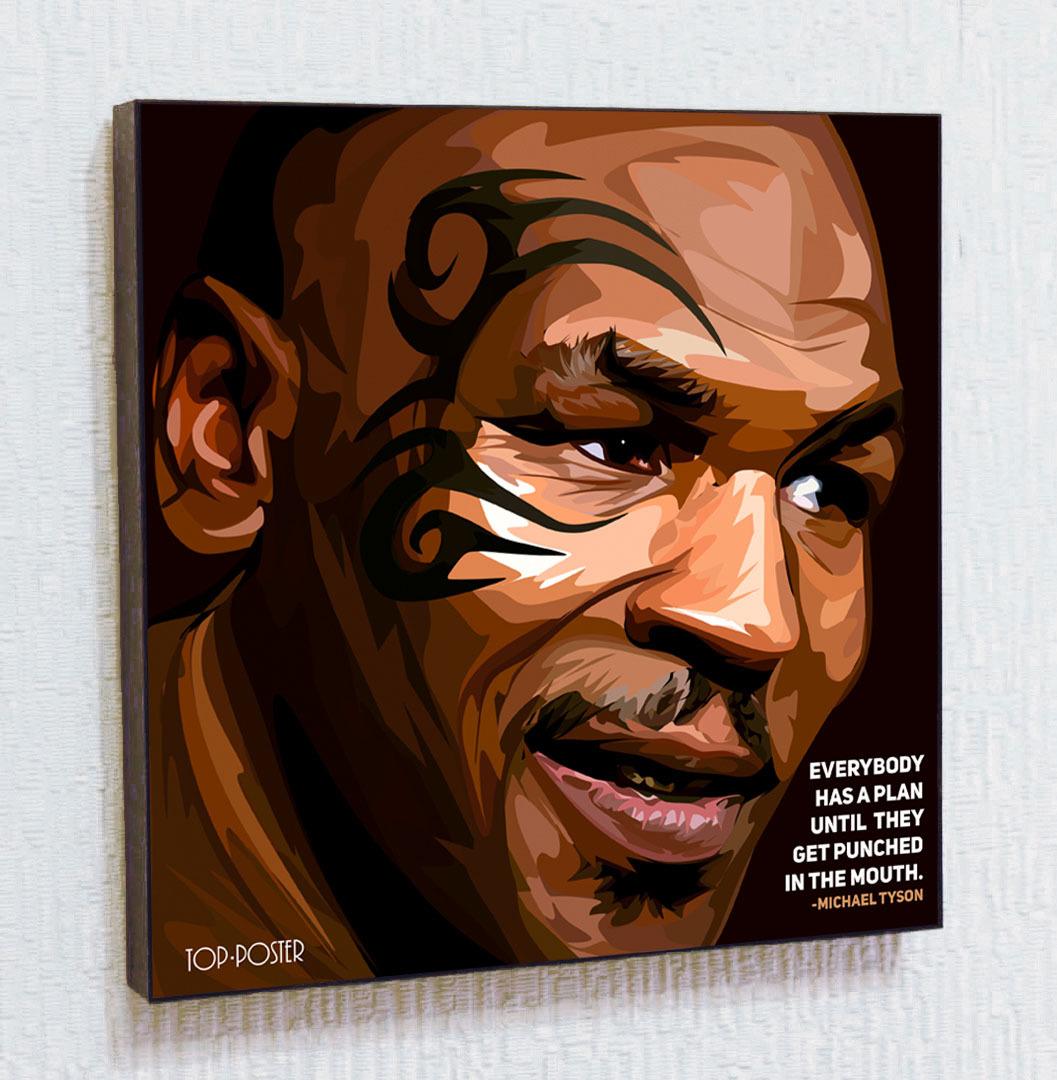 Картина поп арт Майк Тайсон