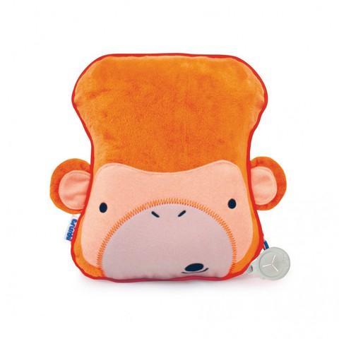SNOOZIHEDZ Обезьянка оранжевый плед с подушкой