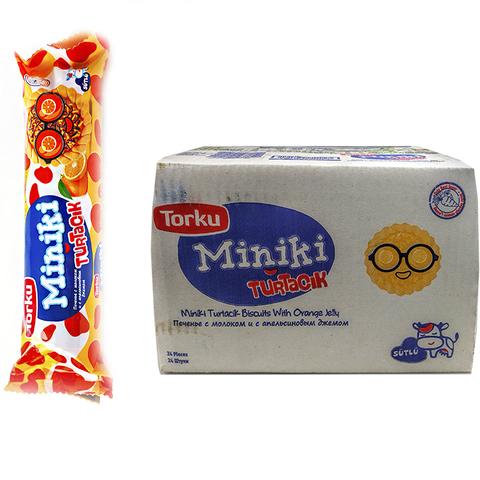 MINIKI Печенье с молоком и с апельсиновым джемом 1кор*1бл*24шт 102гр.