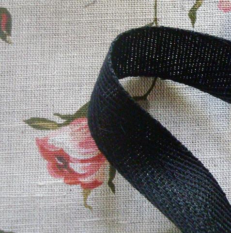 Лента киперная 40 мм черный