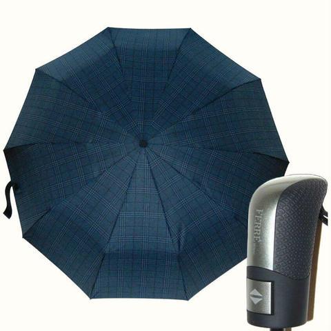 Зонтик ферре в крупную клетку, много спиц
