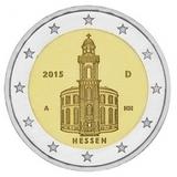 Германия 2015 год 2 евро Гессен двор A UNC из ролла, Федеральные земли Германии
