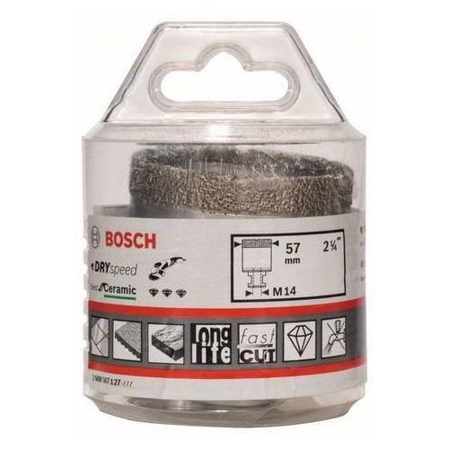 Алмазная коронка Bosch 57 мм сухое сверление для УШМ
