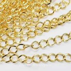 Цепь (цвет - золото) 8х6 мм, примерно 10 м