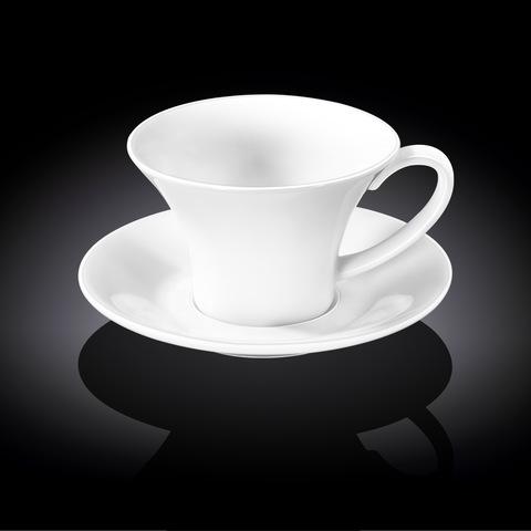 Набор чайная чашка и блюдце Wilmax 430 мл (WL-993172)