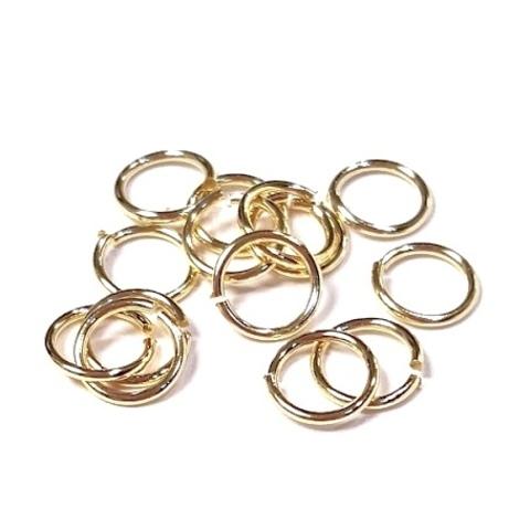 Колечки 4,5 мм цвет золото 10 шт
