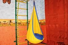 Детское кресло-гамак Кокон (желто-синий)