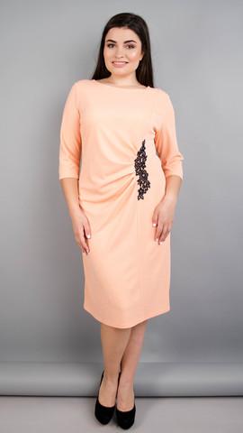 Тейлор. Красивое женское платье плюс сайз. Персик.