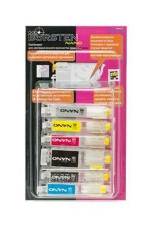 Комплект нано-картриджей BURSTEN NANO 2 для CANON MG6140, MG8140, MG6240, MG8240 (PGI-425/CLI-426 с чипами) x 6 шт.