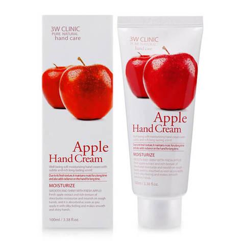 3W Clinic Крем для рук увлажняющий с экстрактом яблока 100мл