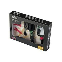 Klein Набор стилиста BRAUN SATIN HAIR: расческа с подсветкой и аксессуарами (5868)