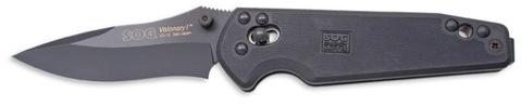 Купить Складной нож SOG Мод. VISIONARY I BLACK 97167 по доступной цене