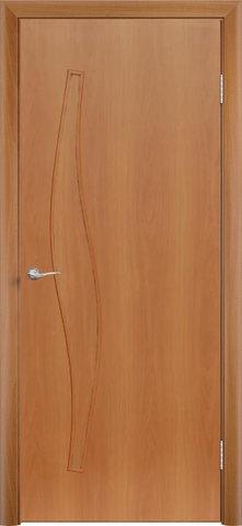 Дверь Сибирь Профиль Волна (С-10), цвет миланский орех, глухая