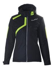 Женская утепленная лыжная куртка Nordski Premium NSW120180 черная-лайм