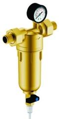 Фильтр Гейзер Бастион 7508165201 с манометром для холодной и горячей воды 1/2