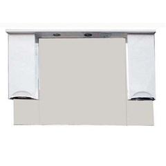 Зеркало-шкаф SanMaria Милан-120 белый, 2 ящика